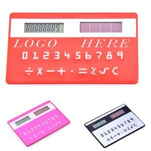Quality Credit Card Shape Solar Calculators