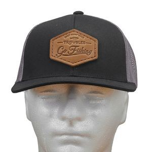 Trucker Snapback Hat with Leather Patch
