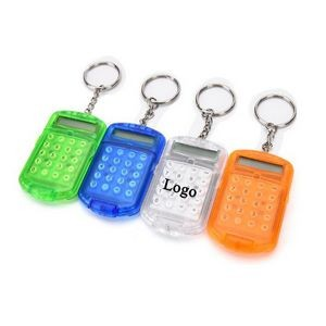 Mini Clamshell Calculator With Keychain