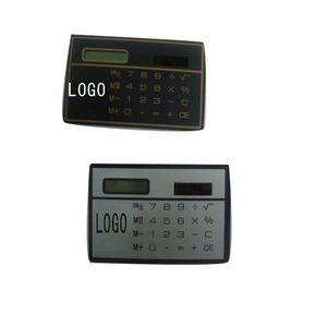 Credit Card Size Solar Calculator w/ Custom Logo