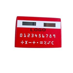 Colorful Credit Card Size Solar Calculator w/ Custom Logo