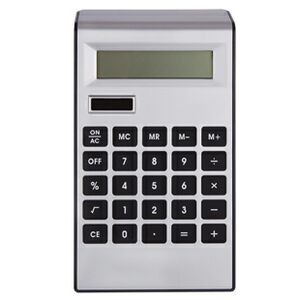 Silver Plastic Solar Calculator w/ Black Keys