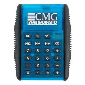 Auto-Flip Cover Calculator w/Black Rubber Side Grips
