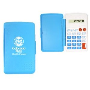 8 Function Pocket Sized Calculator W/ Cover-Sky Blue