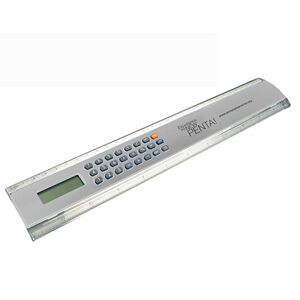 "12"" Easy Read Ruler Calculator-SILVER"