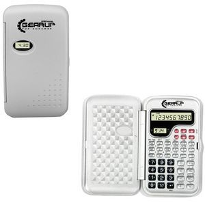Scientific Calculator and LCD Clock-SILVER