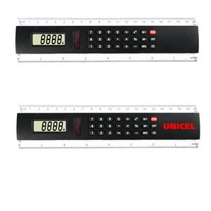 "8"" Easy Read Ruler Calculator-BLACK"