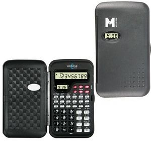 Scientific Calculator and LCD Clock-BLACK
