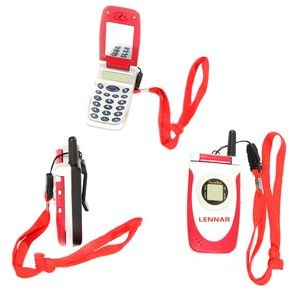 Cellphone Shape Mirror Calculator-RED