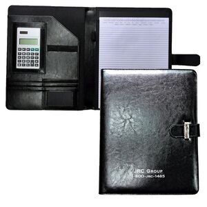 Deluxe Executive Portfolio with Tab Closure (Black)