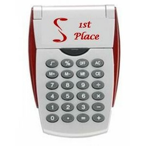 Calculator with Flip Stand - Silver/Red