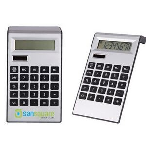 Silver Plastic Solar Calculator