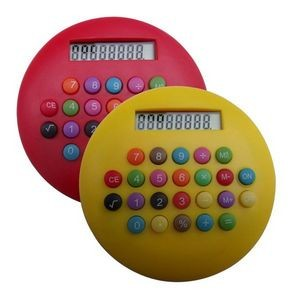 Round Colorful Calculator