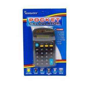 Pocket Calculator Multi Function 8 Digit Display (Case of 48)