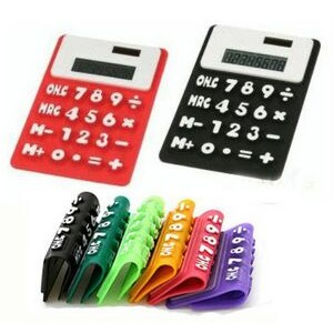 Solar Powered Silicone Foldable Calculator
