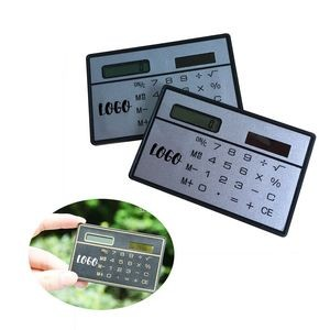 Ultra Thin Solar Powered Calculator