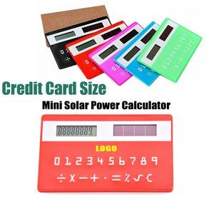 Mini Size Solar Power Credit Card Calculator