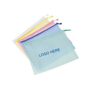 PVC Mesh Document Bag
